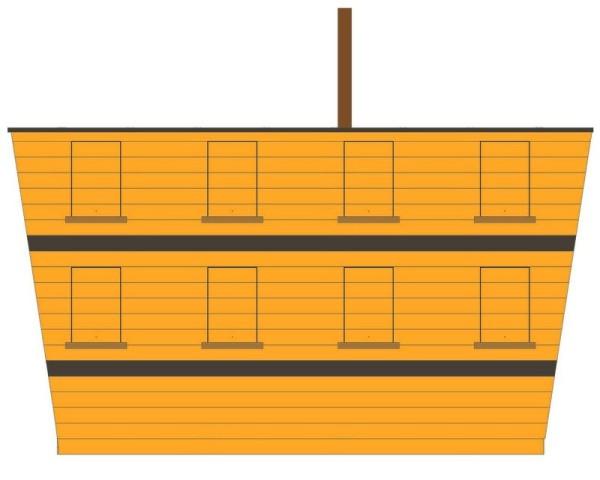 Bateau pirate, cabine de bateau, cabane de jardin, cabane enfant, jeu enfant